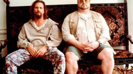 "Jeff Bridges, left, as ""The Dude"" and John"