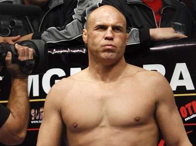 Randy Couture, in the ring for his match