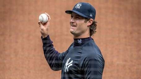 New York Yankees' Gerrit Cole during Yankees workout