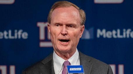 Giants co-owner John Mara introduces their new coach