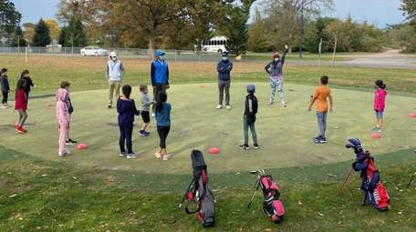 Youngsters participating in the First Tee of Nassau