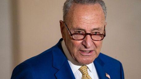 New York Senator Chuck Schumer gives remarks on