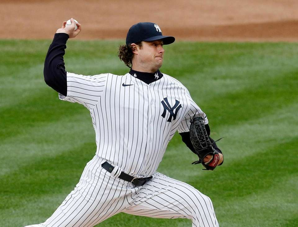 Gerrit Cole #45 of the New York Yankees