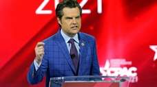 Rep. Matt Gaetz (R-Fla.) speaks Feb. 26 at