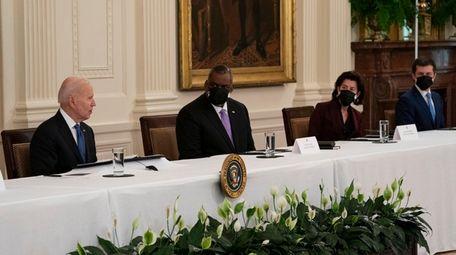 President Joe Biden on Thursday with Cabinet members