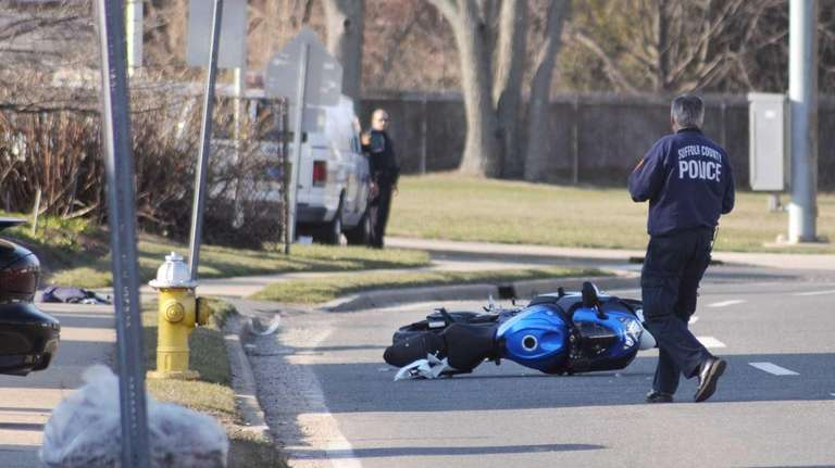 Suffolk County police are investigating a crash Friday