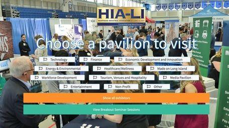The landing page for 2020 HIA-LI trade show.