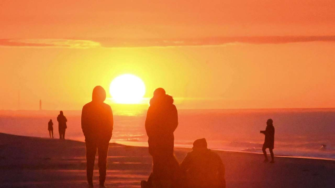 The traditional Sunrise Easter Service at Jones Beach