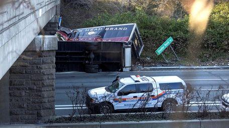 Nassau County police investigate at the scene of
