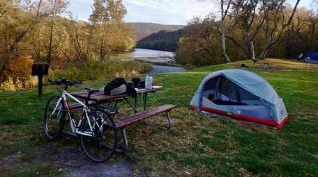 Bike touring means packing everything you'll need on