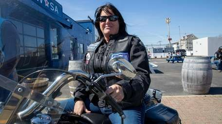 Blue Knights motorcycle club member Michelle Guadagno on