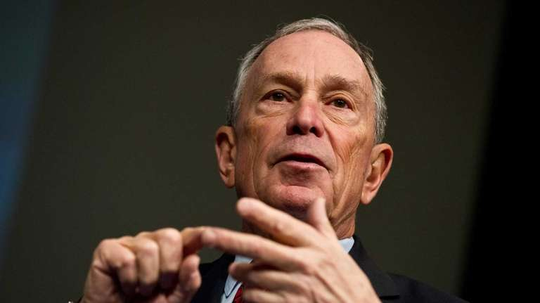 New York City Mayor Michael Bloomberg speaks at