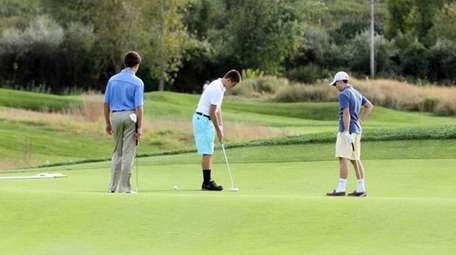The scenic Harbor Links Golf Course in Port