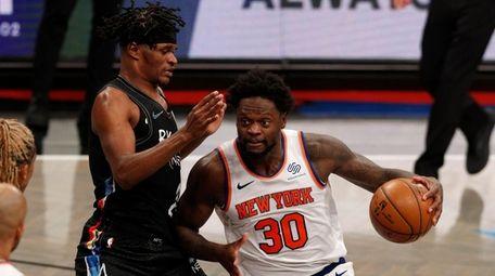 Julius Randle of the New York Knicks works