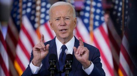 President Joe Biden delivers a speech on infrastructure