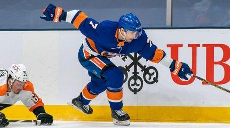 Islanders right wing Jordan Eberle skates past Flyers