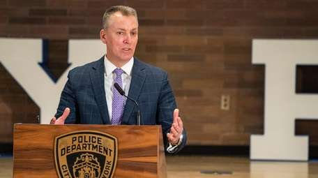 NYPD Commissioner Dermot Shea announced the department's new