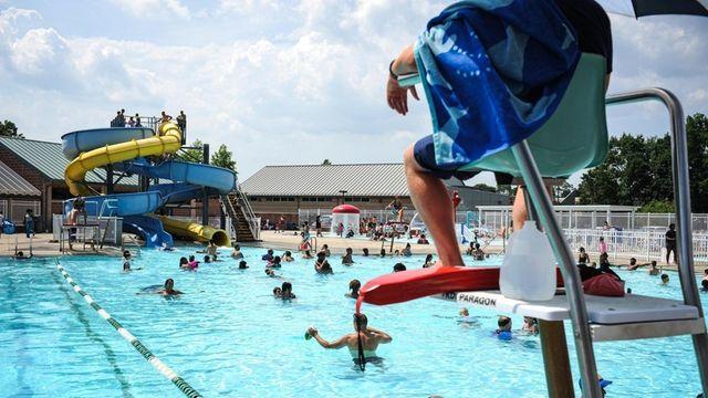 The pool at Phelps Lane Memorial Park in