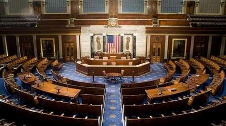The U.S. House of Representatives chamber is seen