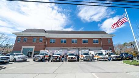 Members of South Country Ambulance in Bellport, along