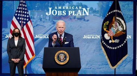 President Joe Biden, with Vice President Kamala Harris,