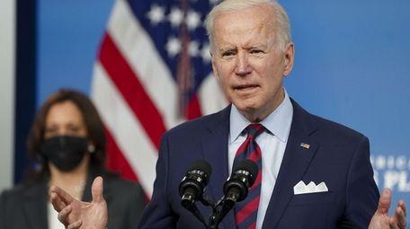 President Joe Biden on Wednesday in the Eisenhower