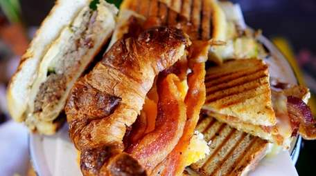 An assortment of bacon sandwiches at Garden of