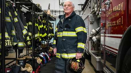 John Capozzoli Jr., 80, a Freeport firefighter with