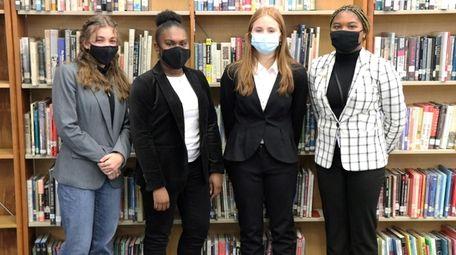 Baldwin Senior High School's team, from left, Thalia