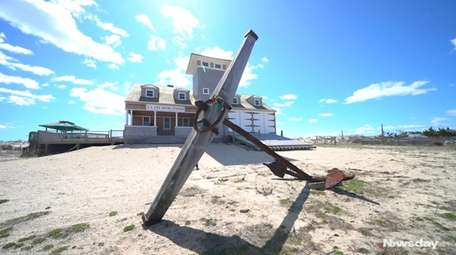 An anchor carrying Long Island's maritime history has