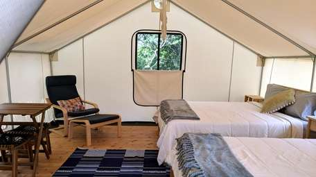 Fire Island Glamping: The campground at Watch Hill