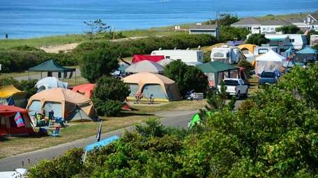 Hither Hills State Park camping site in Montauk.