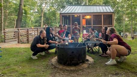 A group of campers at Wildwood State Park