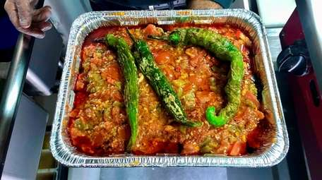 Egyptian-style moussaka is available in individual portions or