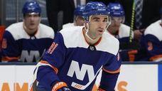 Kyle Palmieri #21 of the Islanders in action