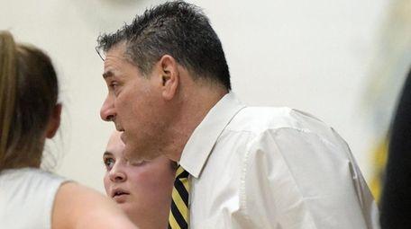 West Babylon girls basketball coach Ron Langella.