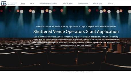 The SBA shut down the online application portal