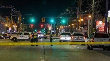 Nassau police investigate a fatal collision on Merrick