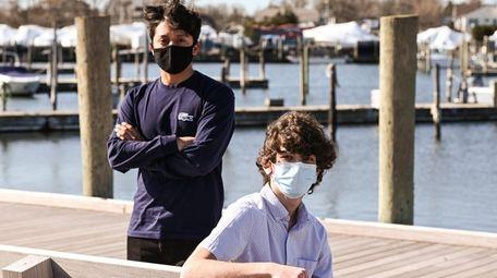 Will Kurka, left, and Noah Lika, Bay Shore