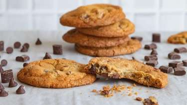 Chocolate chips and chunks combine to make the