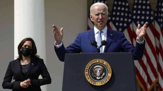 President Joe Biden speaks Thursday in the White
