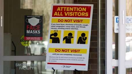 Precautions were posted last month by the entrance