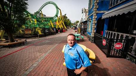 Adventureland co-owner Steve Gentile at the park, which