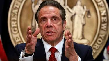 New York Gov. Andrew M. Cuomo, who held