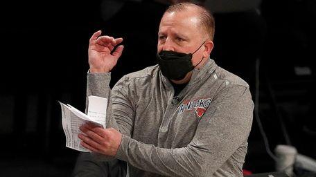 Head coach Tom Thibodeau of the Knicks during