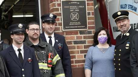 The Valley Stream Fire Department honored volunteer firefighter