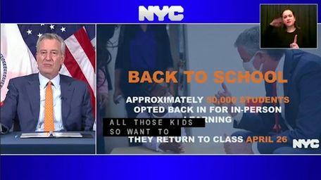 On Monday, Mayor Bill de Blasio said 50,000newly