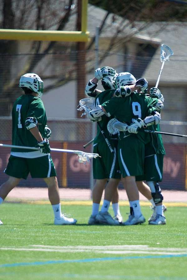 Delbarton (NJ) celebrates after scoring a goal in