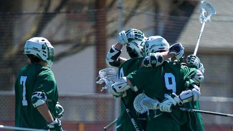 Delbarton (NJ) celebrates after scoring a goal in