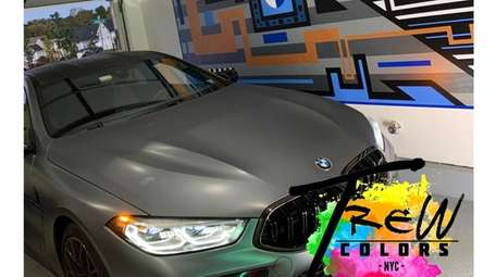A mural for BMW lovers designed by White